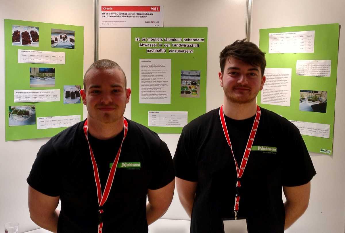 Colin Steinhausen und Mika Allmendinger von Nehlsen Industrieservice