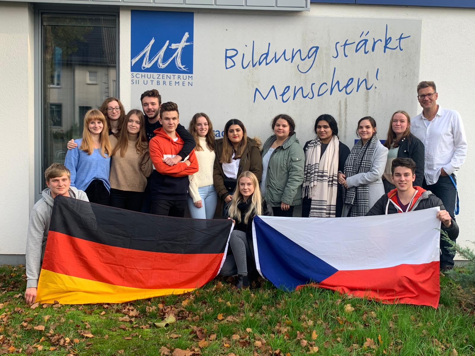 Gruppenfoto mit tschechischen Austauschpartner